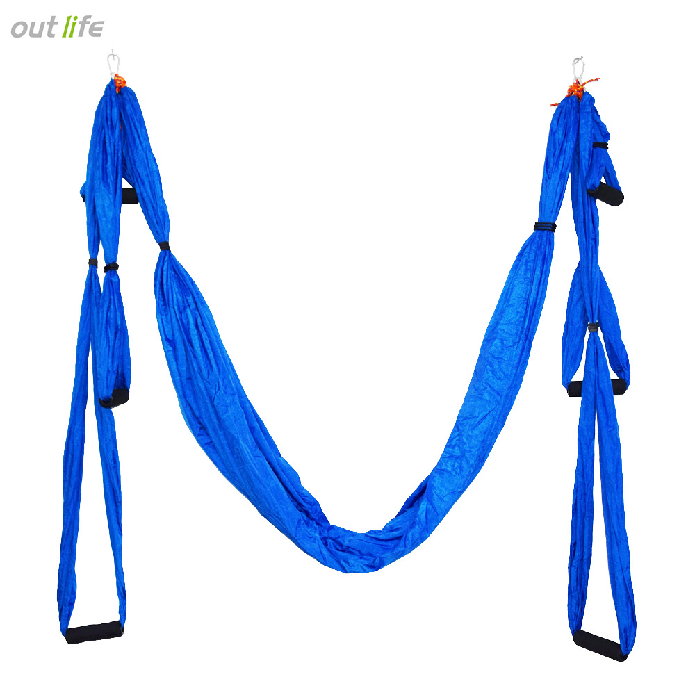 Aerial Yoga Swing, Ultra Strong Antigravity Yoga Hammock/Trapeze/Sling for Antigravity Yoga Inversion Exercises, Azure