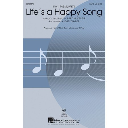 Hal Leonard Life's a Happy Song (from The Muppets) 3-Part Mixed by The Muppets Arranged by Audrey - Muppets Halloween Song