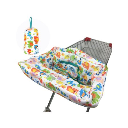 Portable High Chair Cover - Foldable Portable Toddler Baby Kids Shopping Trolley Cart Seat Pad High Chair Cover Protective Mat