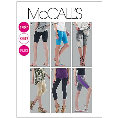 4 Spray Patterns (McCall's Pattern Misses' and Women's Leggings in 4 Lengths, A5 (6, 8, 10, 12, 14))