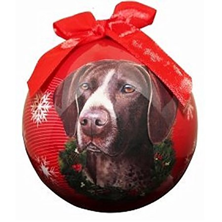 - German Shorthaired Pointer Christmas Ornament Shatter Proof Ball Easy To Personalize A Perfect Gift For Pointer Lovers