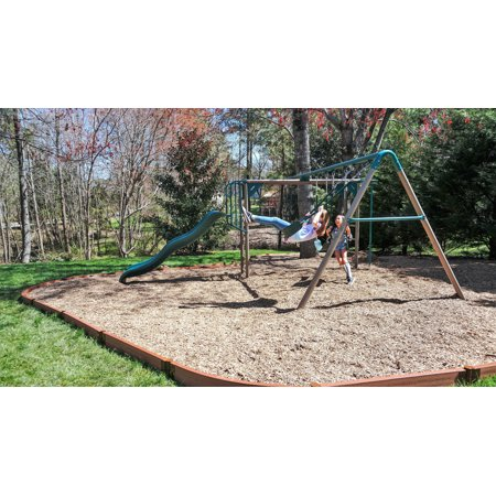 "Frame It All Tool-Free Classic Sienna Curved Playground Border 16' – 2"" profile"