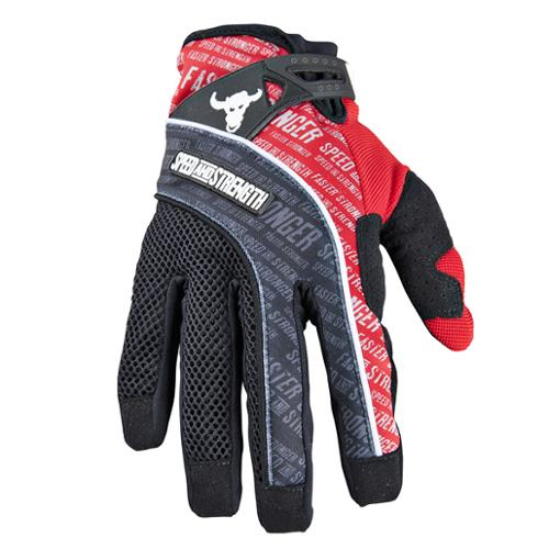 Speed & Strength Lunatic Fringe Mesh/Textile Gloves Red 2XL
