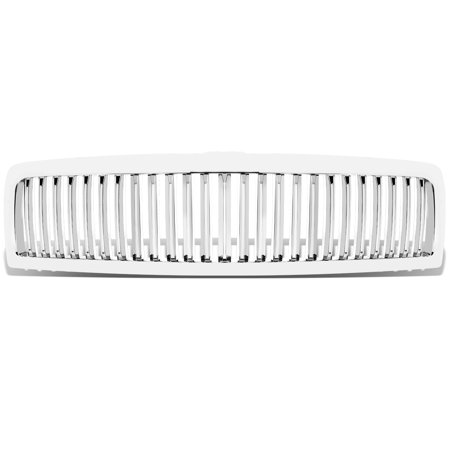For 1994 to 2002 Dodge Ram 1500 / 2500 / 3500 ABS Plastic Vertical Front Grille (Chrome) - 2nd Gen BR / BE 95 96 97 98 99 00 01 Br Chrome Grille Grill