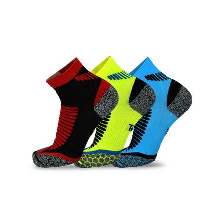 4a453411cdf TeeHee Socks - TeeHee Athletic Sports Functional Compression Cushioned Socks  3-Pack - Walmart.com