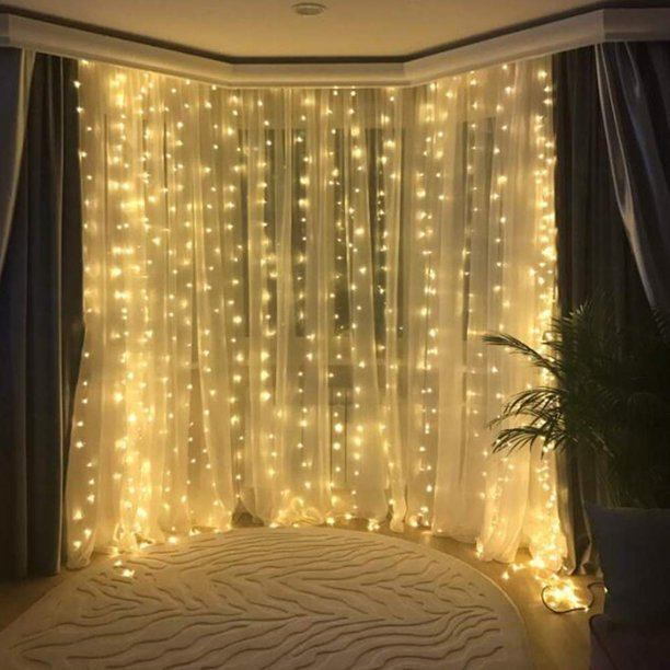 Lyumo Curtain Lights Window, 7ft Curtain Pole