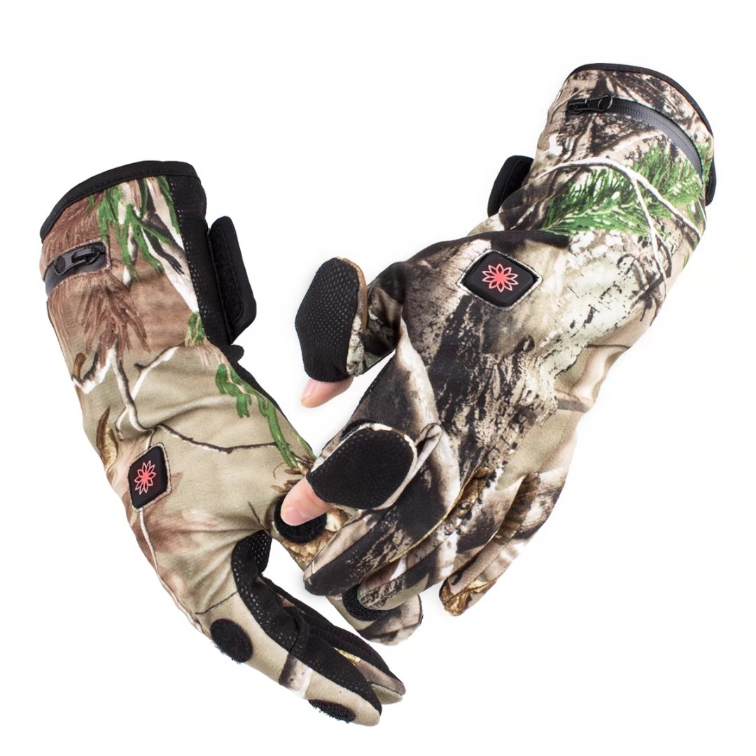 Morpilot Unisex Heated Gloves, Electric Rechargeable Battery Powered, up to 6 Hours of Warmth - Camouflage
