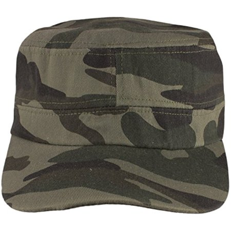 f9e4d5fa0ed Army Camoflage Cadet-Style Hat Cap for Men   Women by bogo Brands (Olive  Green) - Walmart.com