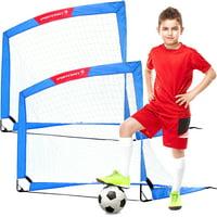 Sportscraft 4' x 3' Pop Up Soccer Goal, Set of 2