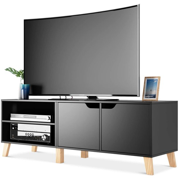 Tv Stand Modern Console Entertainment, Tv Stand Media Storage Cabinet
