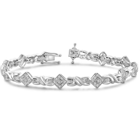 White Diamond Accent Sterling Silver Fashion Bracelet, 7.25