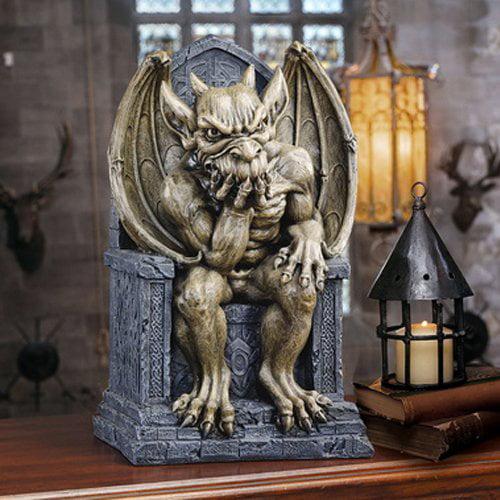 Design Toscano Hemlock's Gargoyle Throne Statue Small by Design Toscano