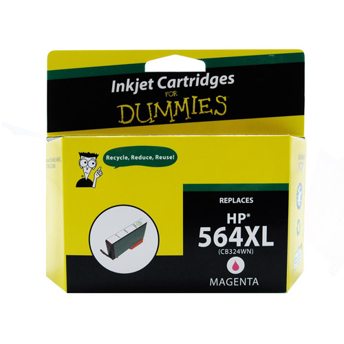 For Dummies Remanufactured Hewlett Packard 564XL Magenta Inkjet Cartridge