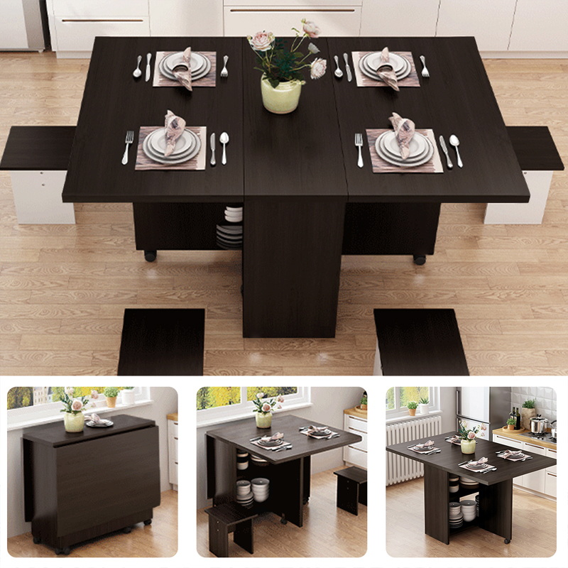 Folding Wooden Counter Dining Table, Wooden Folding Dining Room Chairs