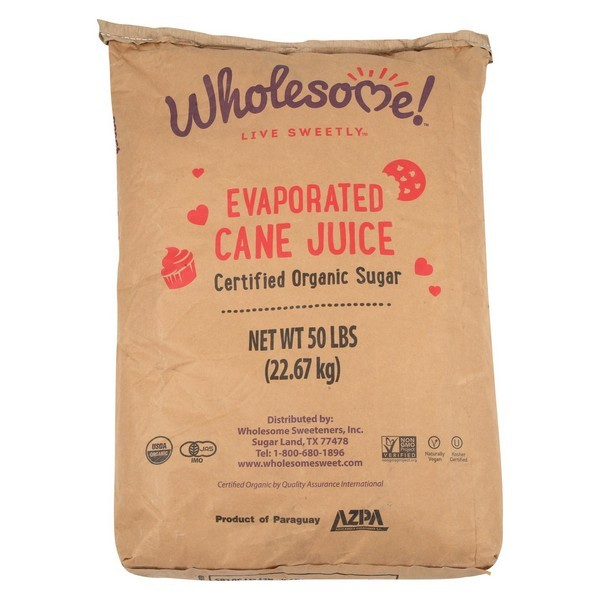 Wholesome Sweeteners Cane Sugar - Organic And Natural - pack of 50 - 1 Lb.