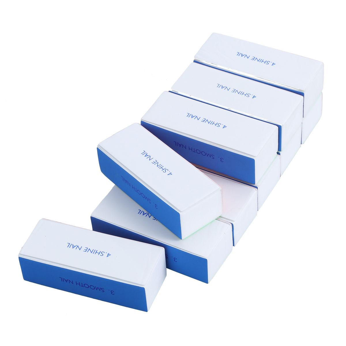 Washable 4-Way Nail Shiner Sponge Nail Files Nail Buffers Sanding Blocks, 10pcs Pack