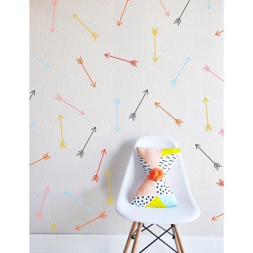 The Lovely Wall Company Bright Dainty Arrows Wall Decal