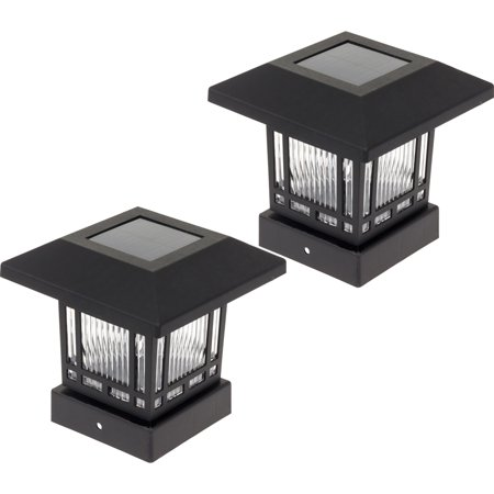 WESTINGHOUSE NEW Solar 4 x 4 Post Cap Light for Wood Posts (2 Pack)