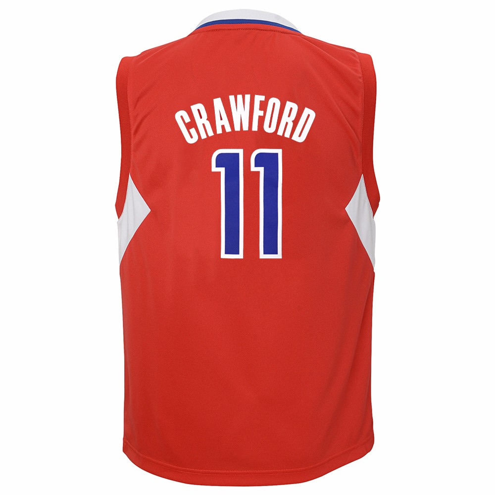 Jamal Crawford Los Angeles Clippers NBA Adidas Boys Red Official Road Replica Basketball Jersey