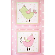 My Baby Sam Pixie Baby 2-Piece Wall Decor, Pink