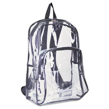 Clear Alien Backpack (193971BJBLK Backpack, PVC Plastic, 12 1/2 x 17 1/2 x 5 1/2,)