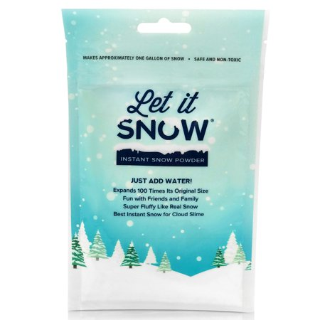 Let it Snow Instant Snow Powder for Slime, Premium Fake Snow Perfect for Cloud Slime Supplies! Made in the USA - Safe and