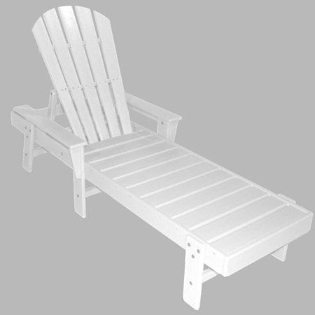 Polywood south beach recycled plastic chaise lounge for Acrylic chaise lounge