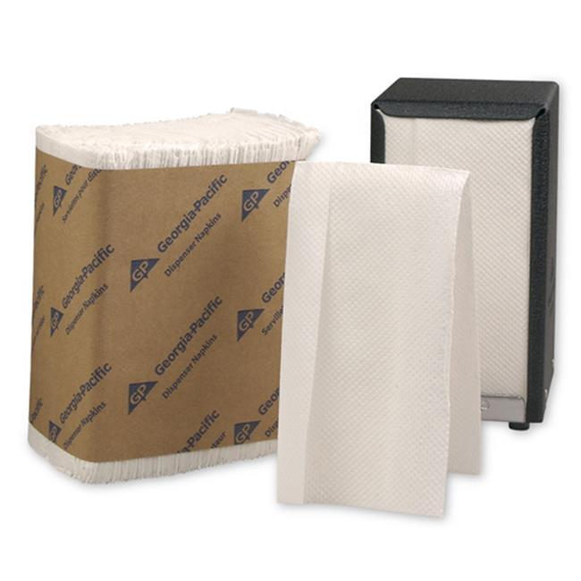Georgia-Pacific GPC 332-01 HyNap Tall Fold Dispenser Napkin 1-Ply - White