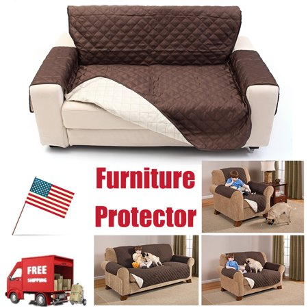 Grtsunsea Reversible Quilted Furniture Protector Seat Sofa Couch Pets Cushion Furniture Waterproof Protector Slip Cover Mat Single/Double/Three Person Christmas Gift For your Family