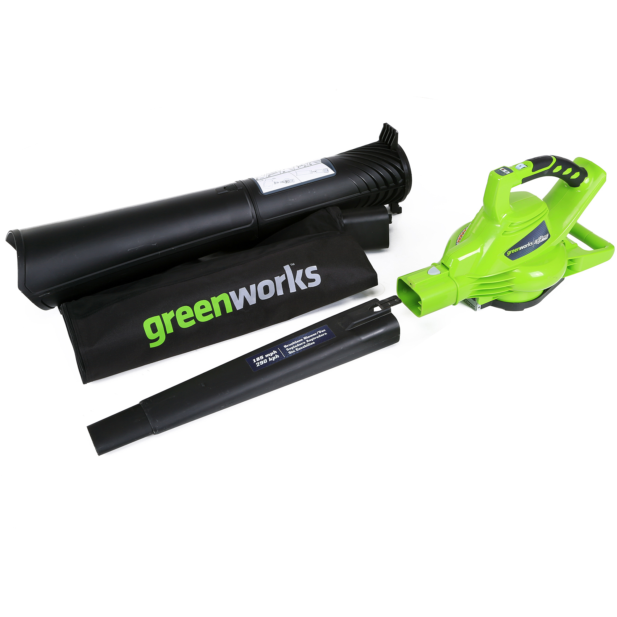 GreenWorks 24312 40V Brushless Leaf Blower, Battery and Charger Sold Separately