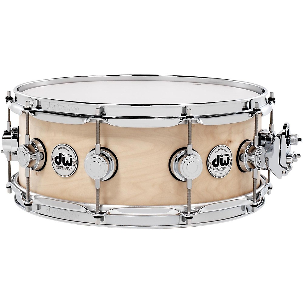 DW Collector's Series Satin Oil Snare Drum Natural with Chrome Hardware 14x5.5 by DW
