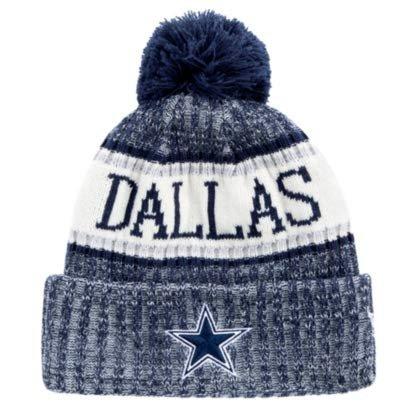 Dallas Cowboys New Era Sport Knit Hat removable pom