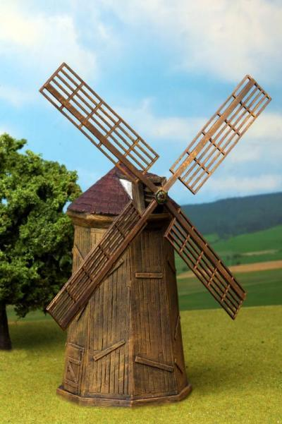 Windmill w Wind Wheel New by Windmills