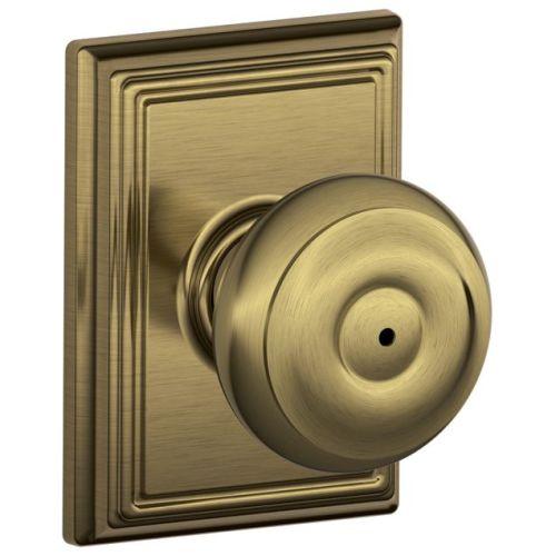 Knob Lockset,Mechanical,Privacy,Grd. 2 SCHLAGE F40 GEO 609 ADD
