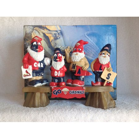 Resin Baseball - Gnomes St Louis Cardinals World Series (2011) - 10 inch heavy resin Gnome MLB