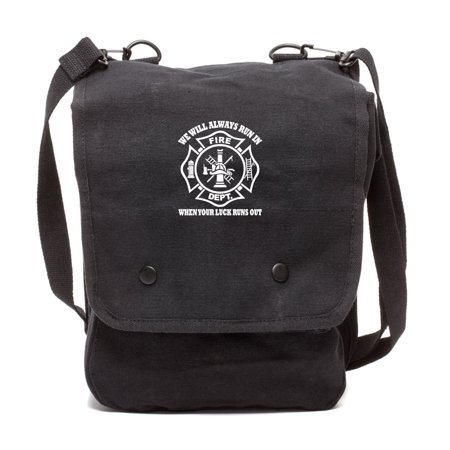 We Will Always Run in When Your Luck Has Run Out Crossbody Travel Map Bag