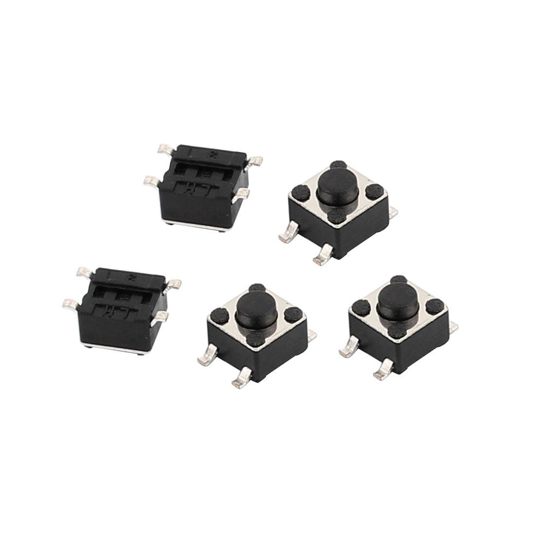 5Pcs 4 P Square 4.5mmx4.5mmx3.8mm Momentary Mini Push Button Switch - image 1 of 1