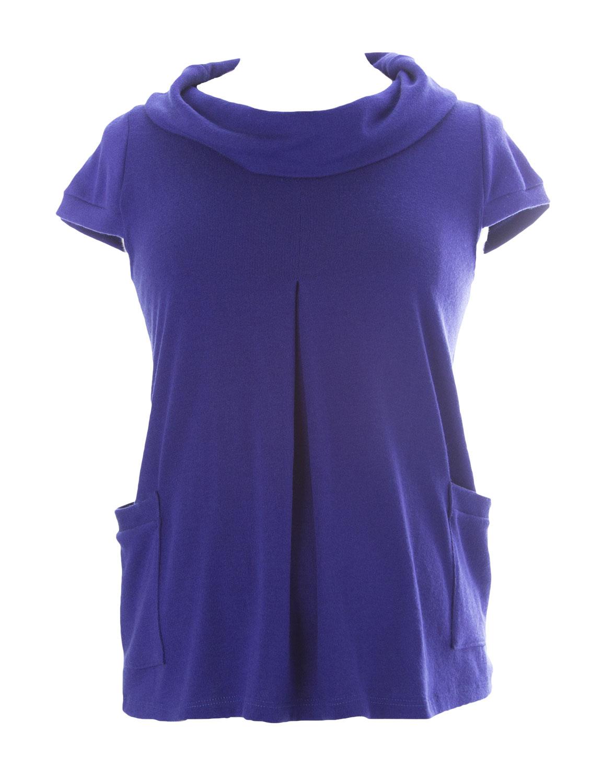 JULES & JIM Maternity Women's Collared Sweater Medium Blue