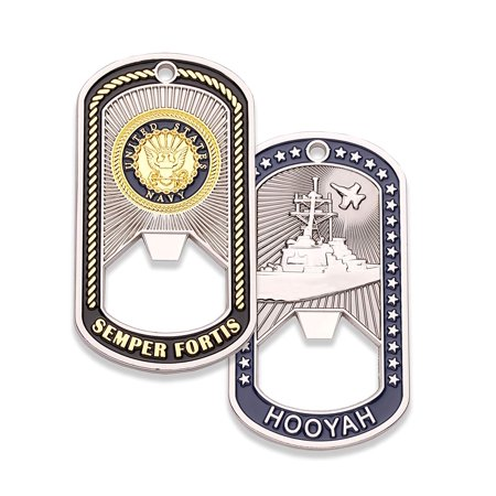 Navy Challenge Coin - Dog Tag - Bottle Opener Coin
