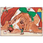 Pipsqueak Productions C433 Holiday Boxed Cards- Basset Hound