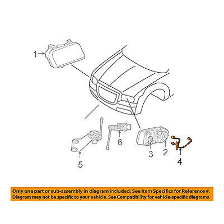 dodge chrysler oem 05 08 magnum headlamp front lamps wire. Black Bedroom Furniture Sets. Home Design Ideas