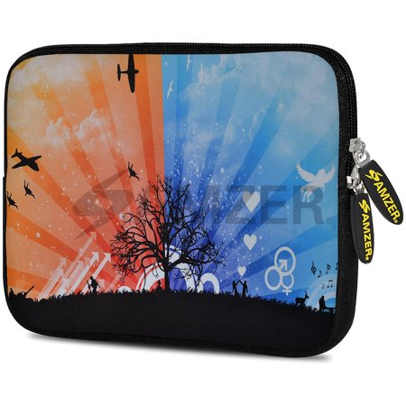 Designer 10.5 Inch Soft Neoprene Sleeve Case Pouch for Samsung Galaxy Tab A 10.1 2016, Tab 4 10.1, LG G Pad X 10.1, ASUS ZenPad Z300M 10.1, Fire HD 10 Tablet - Dawn To (Best Pc Case For Dusty Environment)