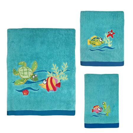 Fish Tails 3-Piece Towel Set