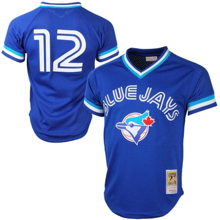 Toronto Blue Jays Jersey (Mitchell & Ness Roberto Alomar Toronto Blue Jays Cooperstown Collection Mesh Batting Practice Jersey - Royal Blue )