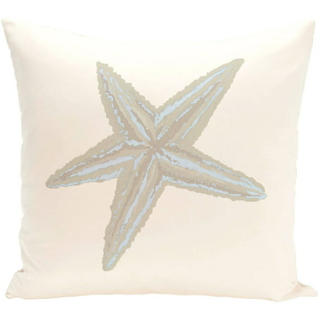 "Simply Daisy 16"" x 16"" Sea Star Coastal Print Outdoor Pillow"