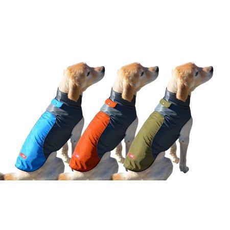 Peak Pooch Cold Weather Dog Jacket, Lightweight, Wind Resistant, Waterproof Rip Stop Nylon, Warm Rain Coat w/ Leash Opening Ripstop Nylon Shell