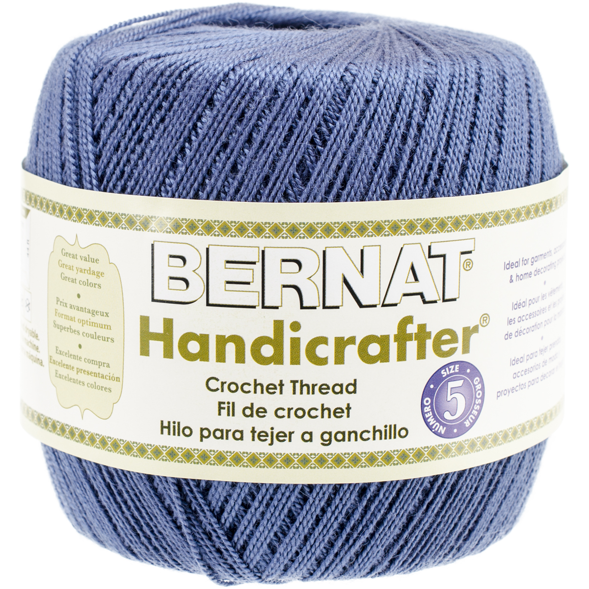 Handicrafter Crochet Thread Size 5 - Solids-Indigo Blue Multi-Colored