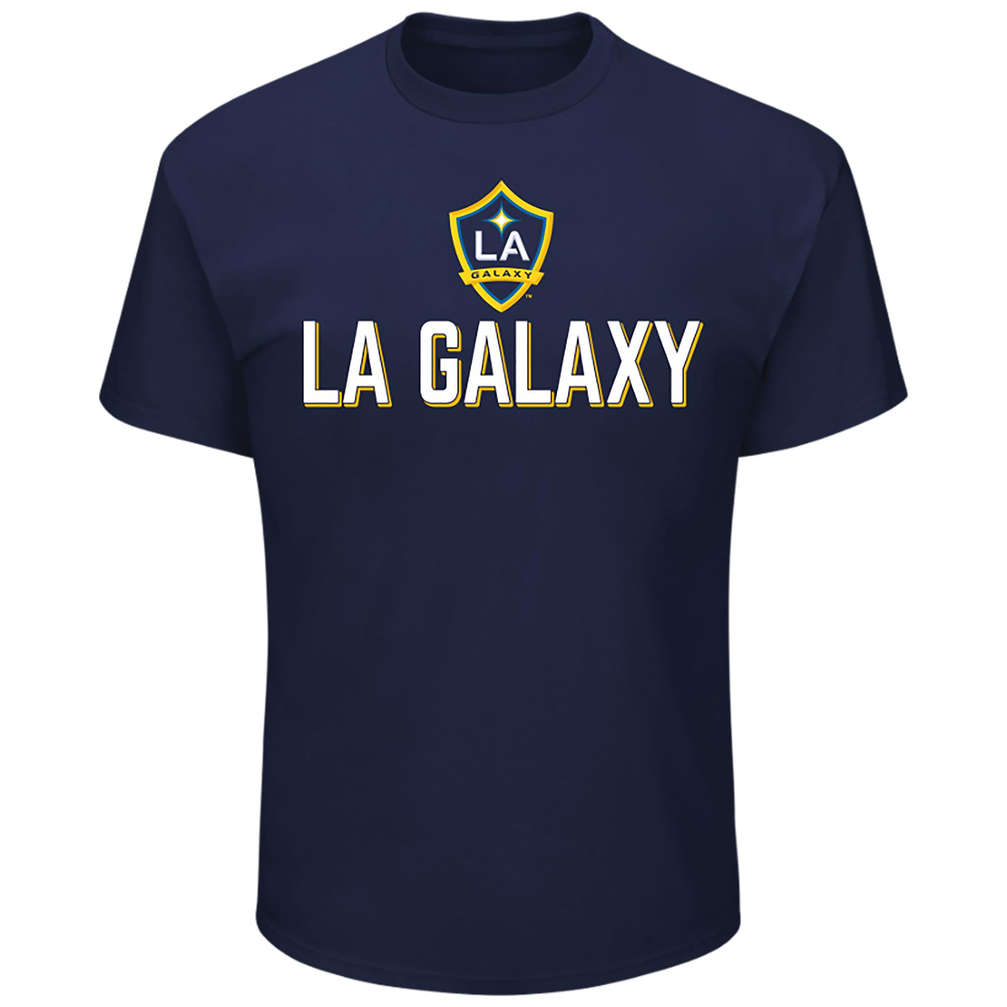 Men's Majestic Navy LA Galaxy Season After Season T-Shirt