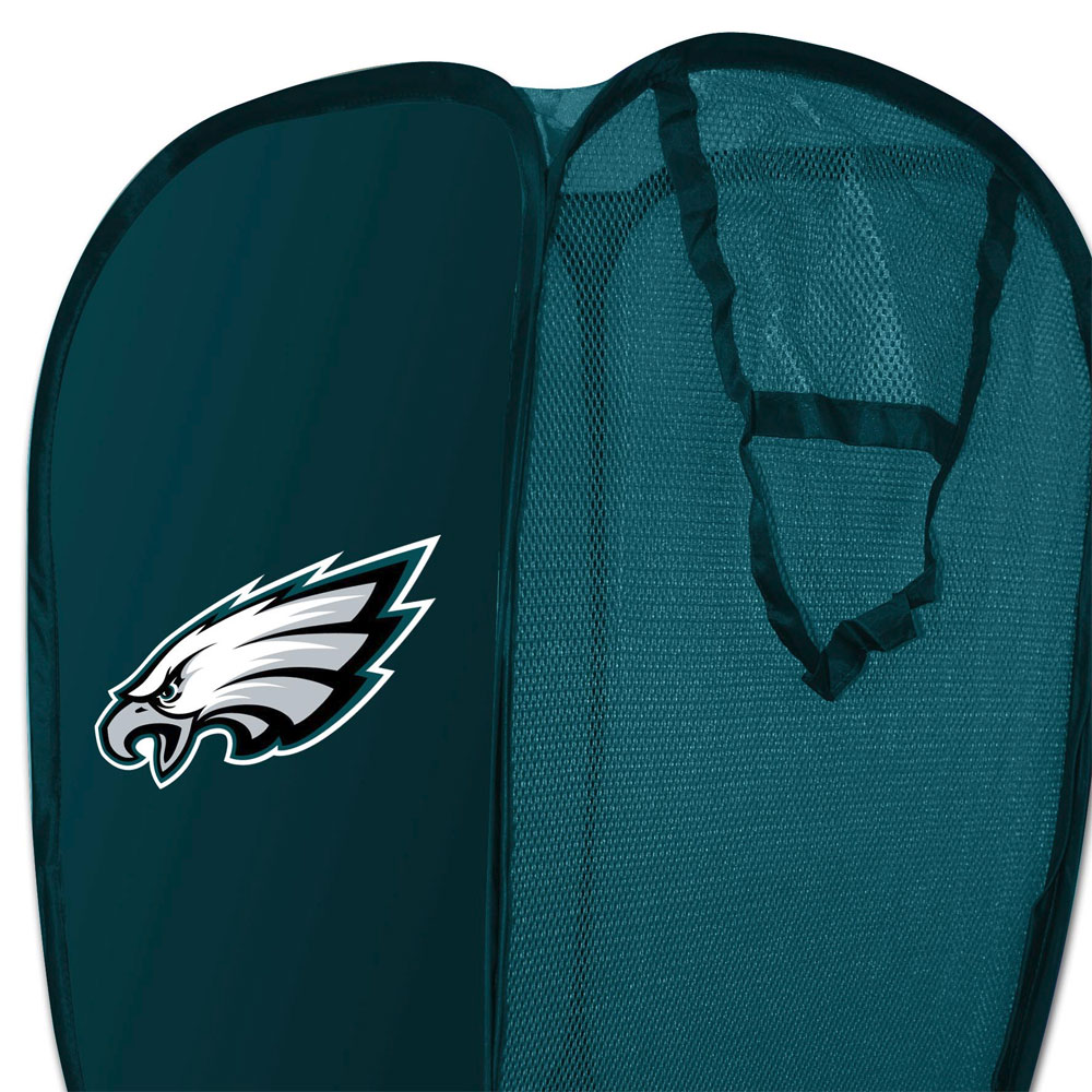 NFL Philadelphia Eagles Hamper Football Team Logo Pop-Up Laundry Basket