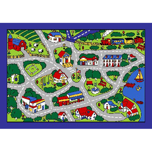 Sintechno Street Map Area Rug